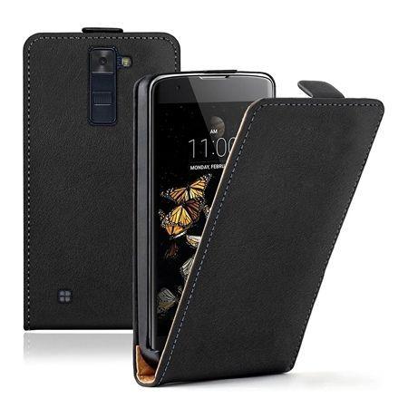 Etui na telefon LG K8 - kabura z klapką - czarny