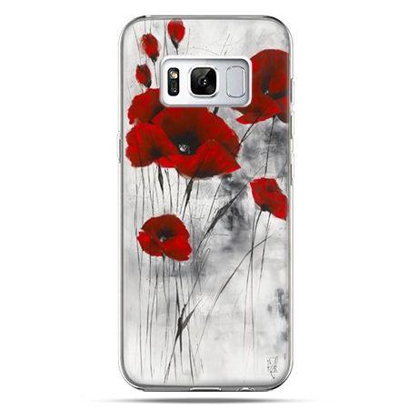 Etui na telefon Samsung Galaxy S8 - czerwone maki
