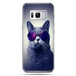 Etui na telefon Samsung Galaxy S8 - kot hipster w okularach