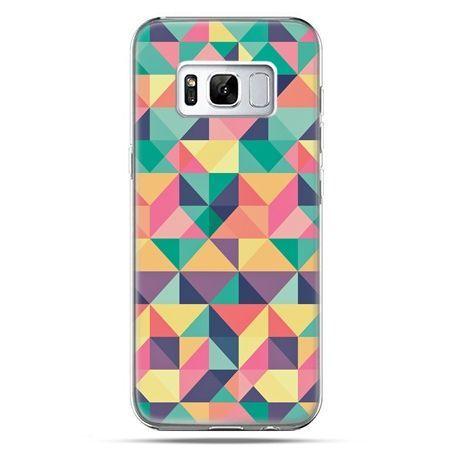 Etui na telefon Samsung Galaxy S8 Plus - kolorowe trójkąty