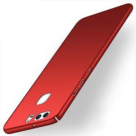 Etui na telefon Huawei P9 Slim MattE - czerwony.