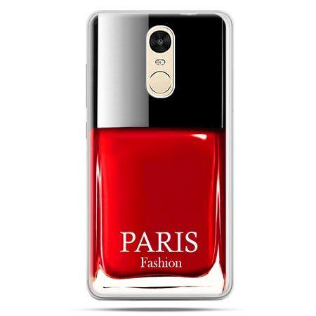 Etui na Xiaomi Redmi Note 4 - lakier do paznokci czerwony