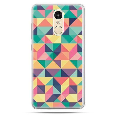 Etui na Xiaomi Redmi Note 4 - kolorowe trójkąty