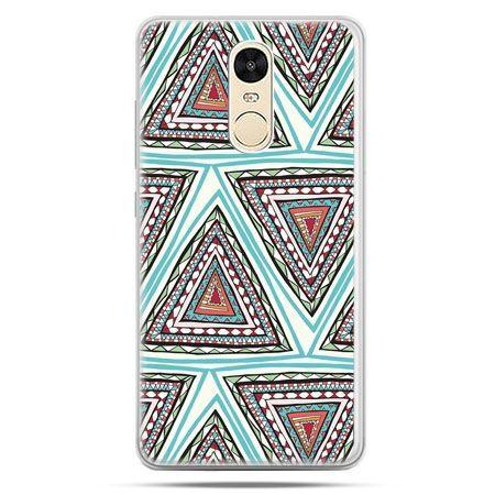 Etui na Xiaomi Redmi Note 4 - Azteckie trójkąty