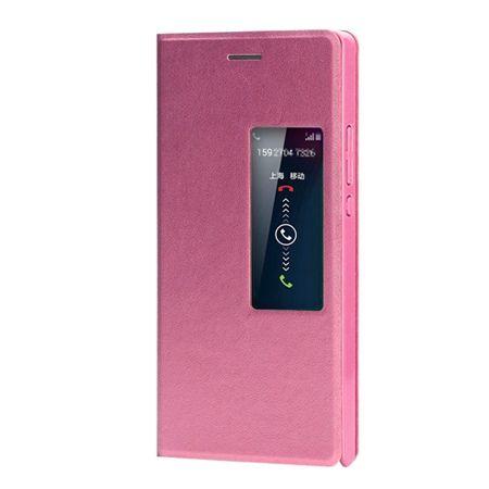 Etui na Huawei P7 Flip S View z klapką - różowy.