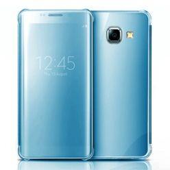 Etui na Galaxy A5 2017 Flip Clear View z klapką - niebieski.