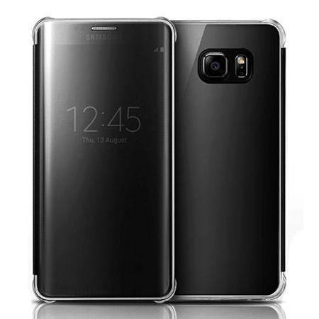 Etui na Galaxy S7 Edge Flip Clear View z klapką - czarny.