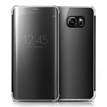 Etui na Galaxy S6 Edge Flip Clear View z klapką - czarny.