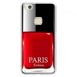 Etui na telefon Huawei P10 Lite - lakier do paznokci czerwony