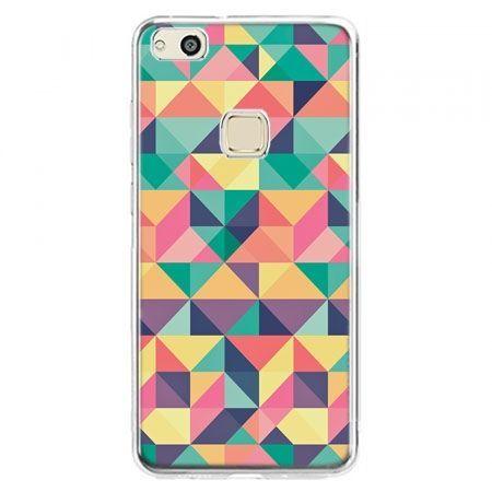 Etui na telefon Huawei P10 Lite - kolorowe trójkąty