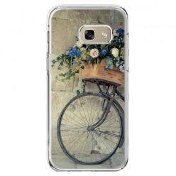 Etui na telefon Galaxy A5 2017 - rower z kwiatami