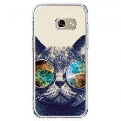 Etui na telefon Galaxy A5 2017 - kot w tęczowych okularach