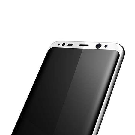 Samsung Galaxy S8 hartowane szkło na cały ekran 3D - biały.