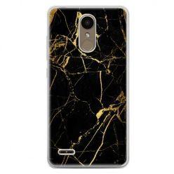 Etui na telefon LG K10 2017 - złoty marmur