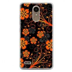 Etui na telefon LG K10 2017 - nocne kwiaty