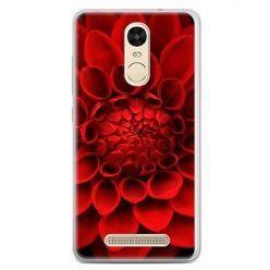 Etui na telefon Xiaomi Redmi Note 3 - czerwona dalia