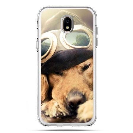 Etui na telefon Galaxy J5 2017 - pies w okularach