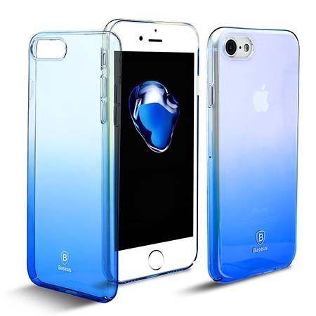Etui na telefon iPhone 7 - Baseus Aurora - niebieskie.