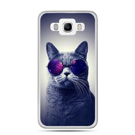 Etui na Galaxy J5 (2016r) kot hipster w okularach - PROMOCJA !