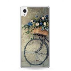 Xperia Z2 etui rower z kwiatami - PROMOCJA !
