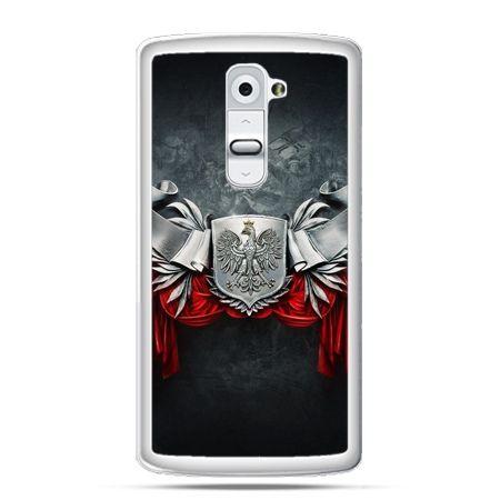 Etui na telefon LG G2 patriotyczne - stalowe godło - PROMOCJA !