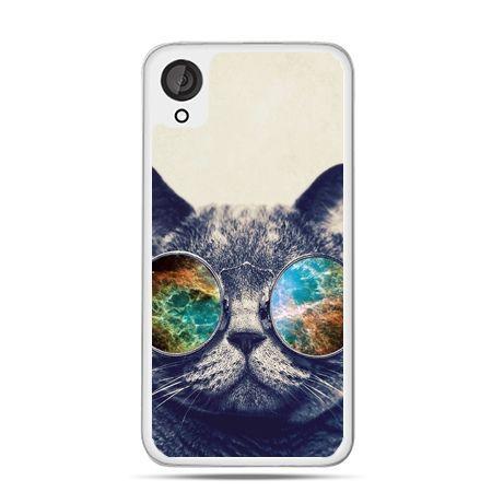 Etui dla Desire 820 kot w tęczowych okularach - PROMOCJA !