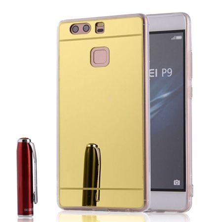 Etui na Huawei P9 mirror - lustro silikonowe lustrzane TPU - złoty.