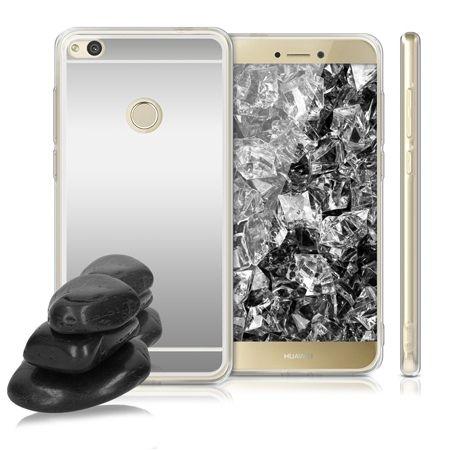 Etui na Huawei P9 Lite 2017 mirror - lustro silikonowe lustrzane TPU - Srebrny.