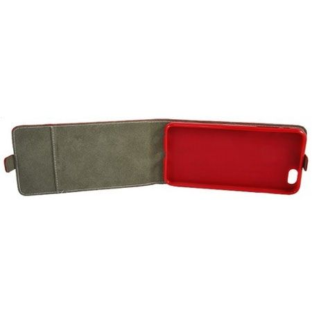 Etui na telefon iPhone 7 - kabura z klapką - czerwony
