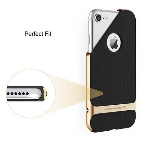 Etui na telefon iPhone 7 Bumper Rock Royce - Złoty.