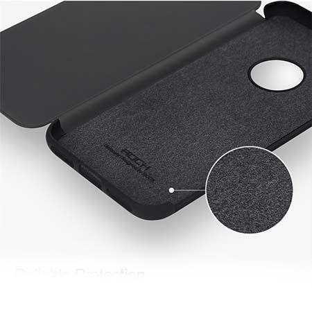 Etui na telefon iPhone 7 Smart View z klapką - Złoty.