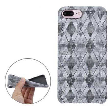 Etui na iPhone 7 Plus Canvas materiałowe elastyczne - Romby szary.