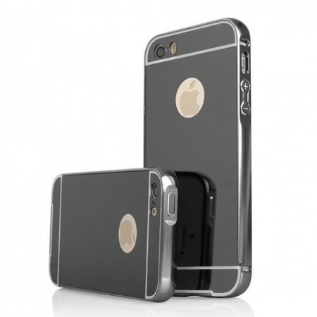Mirror bumper case na iPhone 5 / 5s - Czarny.