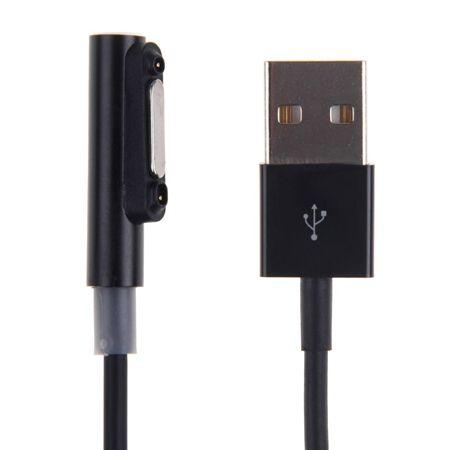 Magnetyczny kabel USB LED do ładowania Sony Xperia 1m - Czarny.