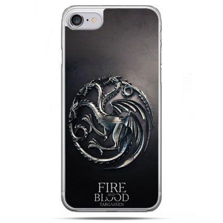 Etui na telefon iPhone 8 - Gra o Tron Targaryen house herb