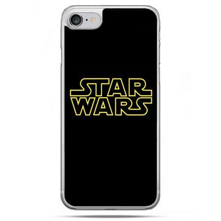 Etui na telefon iPhone 8 - Star Wars złoty napis