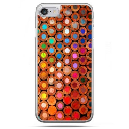 Etui na telefon iPhone 8 - kolorowe kredki