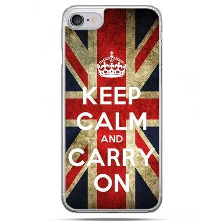 Etui na telefon iPhone 8 - Keep calm and carry on