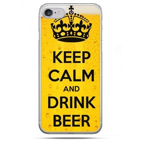 Etui na telefon iPhone 8 - Keep calm and drink beer