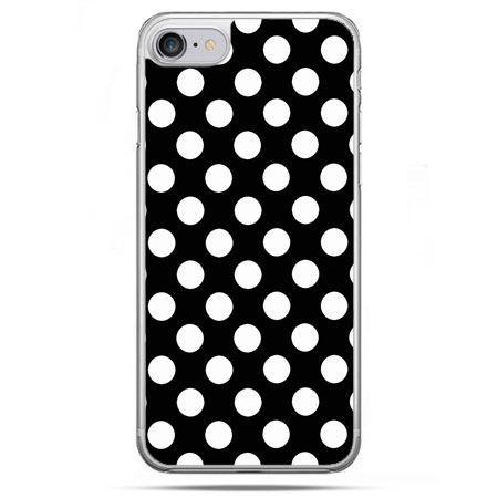 Etui na telefon iPhone 8 - Polka dot czarna
