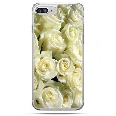 Etui na telefon iPhone 8 Plus - białe róże