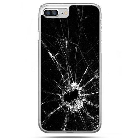 Etui na telefon iPhone 8 Plus - rozbita szyba