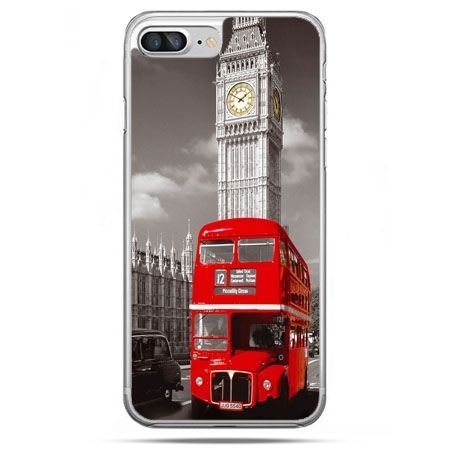 Etui na telefon iPhone 8 Plus - czerwony autobus londyn