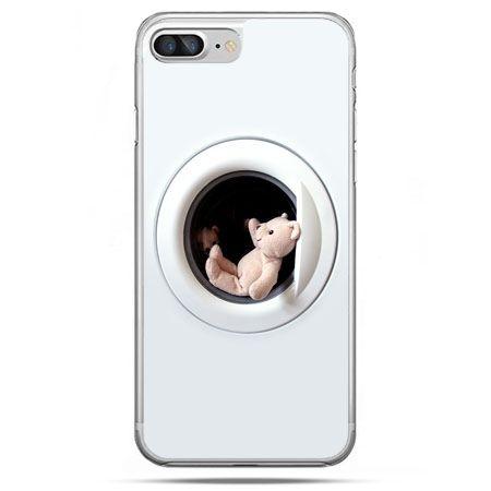Etui na telefon iPhone 8 Plus - miś w pralce
