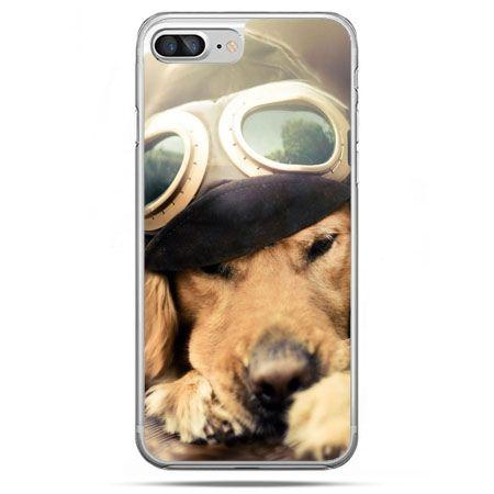 Etui na telefon iPhone 8 Plus - pies w okularach