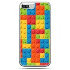 Etui na telefon iPhone 8 Plus - kolorowe klocki