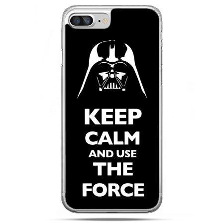 Etui na telefon iPhone 8 Plus - Keep calm and use the force