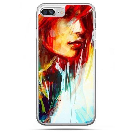 Etui na telefon iPhone 8 Plus - kobieta akwarela