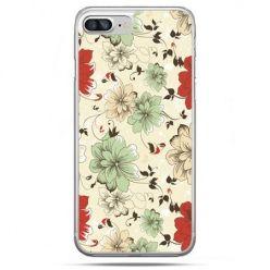 Etui na telefon iPhone 8 Plus - zielone kwiaty