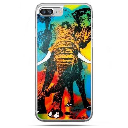 Etui na telefon iPhone 8 Plus - kolorowy słoń